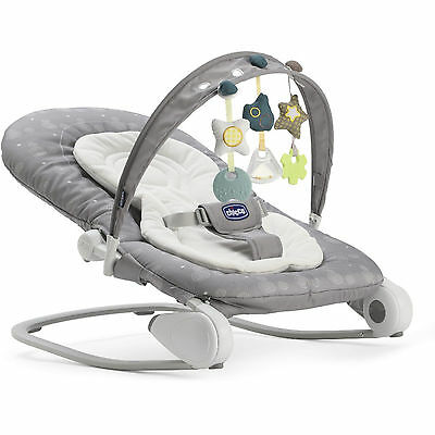 New Chicco Stone Hoopla Bouncer Adjustable Baby Rocker Chair From Birth