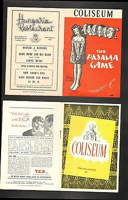 Coliseum 2 x 1950s Theatre Programmes Pyjama Game + Guys & Dolls