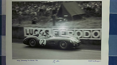 Stirling Moss Autographed Print 1958 at Goodwood. F1 Racing,Aston Martin