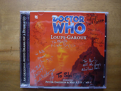 Doctor Who Loups-Garoux, 2001 Big Finish audio book CD. **SIGNED**