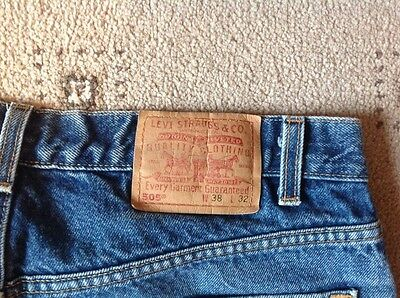 Levi Strauss, 505, blue jeans, USA made, 38w, 32L. Rare.