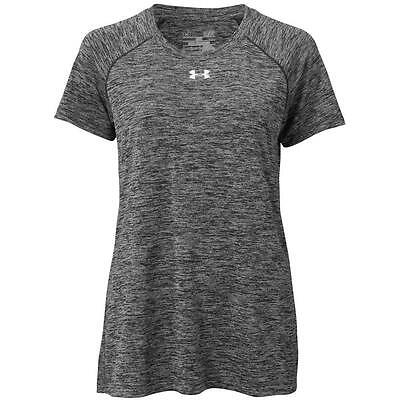 Under Armour Womens HeatGear Twisted Tech Locker T Short Sleeve Black/White