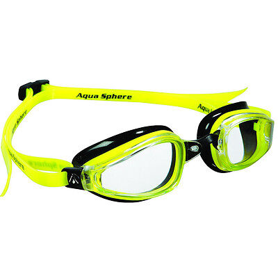 Aqua Sphere K-180 Clear Lens Competition Swim Goggles - Yellow/Black
