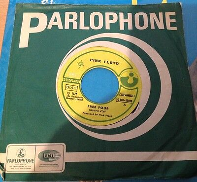 RARE PINK FLOYD - FREE FOUR - THE Gold In The...1972 EMI HARVEST  45