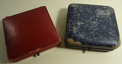 2 Vintage British Medal Boxes Push catch and hinged