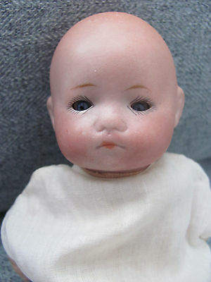 "8"" Antique German Bisque Porcelain China Doll All Original Dream Baby Style"