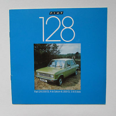 Fiat 128 1300CL Saloon and Estate Brochure (1979)