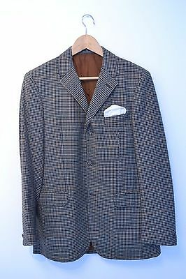 Vintage 1960s Gun Club Check Slim Fit 3 Button Suit Jacket Blazer XS Small 36/38