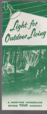 Light for Outdoor Living Brochure 1955 Westinghouse