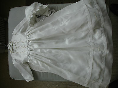Sarah Louise Ivory Christening Gown & Bonnet Age 6 months- BNWT
