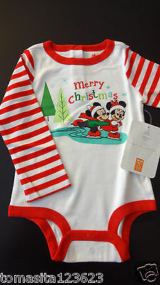 Baby Girl Boy Infant Newborn Onesie Mickey Mouse Holiday Christmas Size 18 24