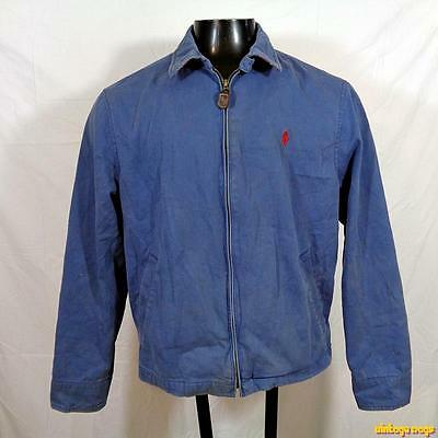 POLO RALPH LAUREN Vintage Cotton Jacket Mens Size M medium wedgewood blue lined
