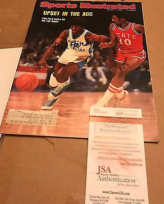 Phil Ford Signed Sports Illustrated Magazine JSA