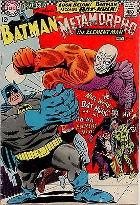 Brave And The Bold #68 VG/FN 5.0 Batman & Metamorpho; Joker, Riddler, Penguin