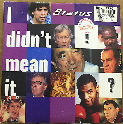 "STATUS QUO-I Didn't Mean It-7"" Vinyl 45rpm Record-Polydor-POL 102-1994"