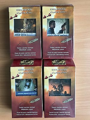 Star Wars CCG SWCCG all 4 different sealed Enhanced Cloud City packs