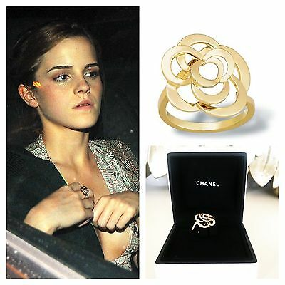 Chanel Joaillerie Fine Jewelry 18K Yellow Gold Camelia Flower Ring (53) 6.25