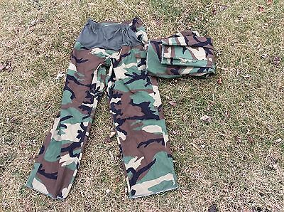 2 Pais US Military Issue Army Woodland Camouflage BDU Maternity Pants 16S