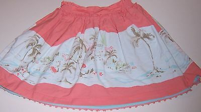 JANIE & JACK~Peach/White Skirt~PALMS/VACATION~GIRLS SIZE 4T