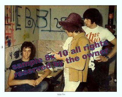 The Who 1968 Back Stage Photos Rare Lot Of 2 - 8By12 & 8 By 10 Townsend Daltrey