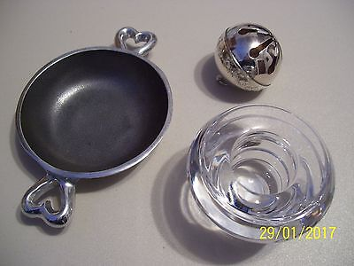 Lenox Candle Holder $25.00 + Wallace Silversmith Bell, Heart Dish, Valentines!