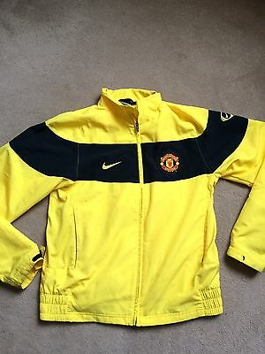 Nike Manchester United F.C. men's yellow size large L tracksuit top, mesh lining