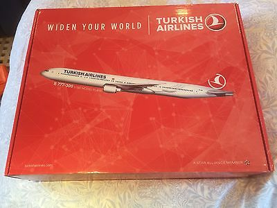 Scale model of Turkish Airlines Boeing 777