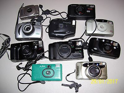 Lot Of 10 Assorted Cameras Plus More, Canon, Snappy Q, Minolta, Bell Howell   Fs