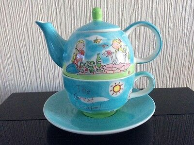Whittard of Chelsea Tea for One Teapot, Cup and Saucer Set