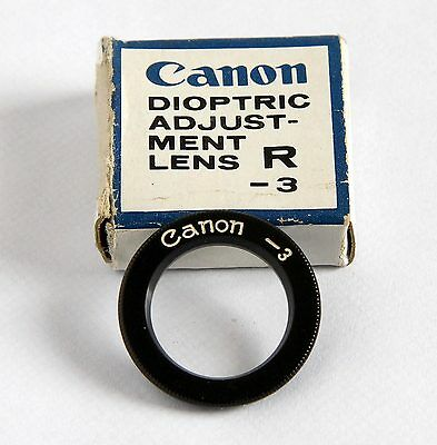 Canon F1 Dioptric Adjustment Lens R-3