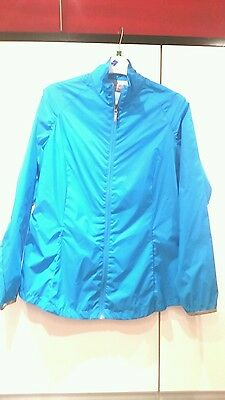 Ladies Callalway Wind Jacket in Turquoise Size Med