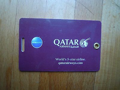 Qatar Airways First Class Plastic Luggage / Baggage Label / Tag New