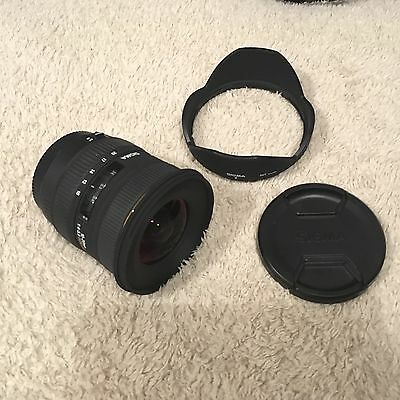 Sigma 10-20mm f/4-5.6 HSM DC EX Wide Angle Zoom Lens Canon Fit - SN10575893