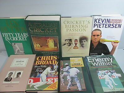 Cricket sport themed book collection x 18 titles, job lot