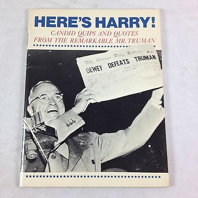 vtg Heres Harry Book Candid Quips Quotes President Truman 1976 Hallmark Treasure
