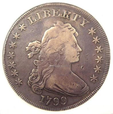 1799 Draped Bust Silver Dollar $1 - VF Details (Very Fine) - Rare Type Coin!