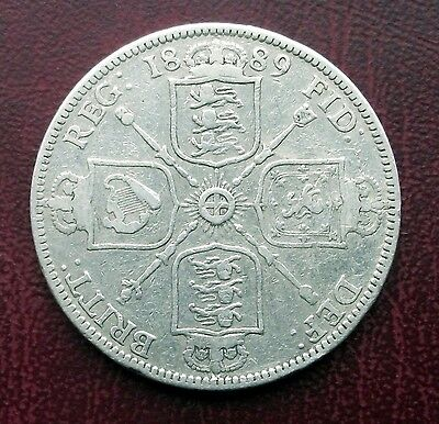 Victoria 1889 Florin/two Shillings Silver