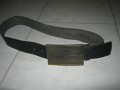 Belt with Colarado State Penitentiary Buckle