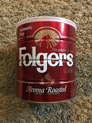 Folgers Coffee Tin 39oz Can Final Production Run 1994
