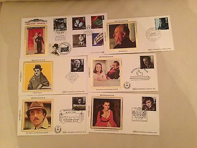 6 Movie Icons Benham Limited Edition First Day Covers Silk Panels