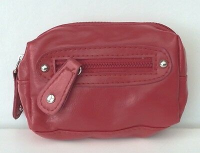Brand New With Tags Girls Red Faux Leather Coin Purse