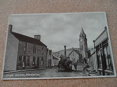 Early Postcard High Street Moniaive Thornhill 1935