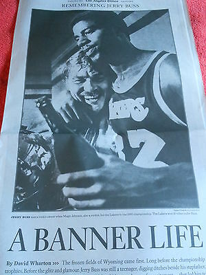 Remembering Jerry Buss La Times Section Los Angeles Lakers Owner March 3 2013