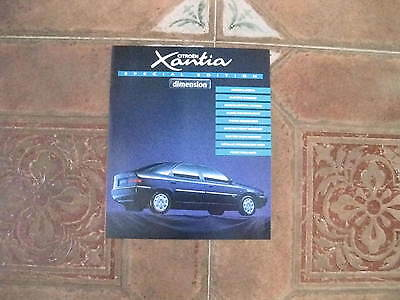 Citroen Xantia Dimension Special Edition 1995 Brochure One Page Rare Item