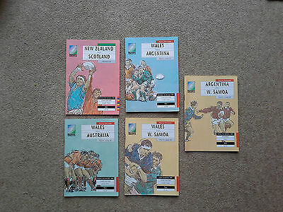 1991 Rugby World Cup programmes - 4 x pool 3 matches + NZ v Scotland play-off