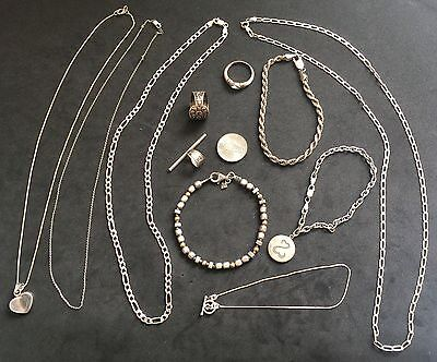 Lot Of Scrap, Sterling Silver, 925, Pre-owned Jewelry 56 Grams