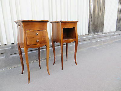 Pair of antique french Louis XV style side tables or nightstands