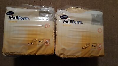 2 Packs Moliform Normal Premium Incontinence Pads Total of 56