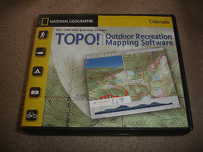 TOPO! National Geographic COLORADO TOPO Maps Mapping Software 7 CD-ROM