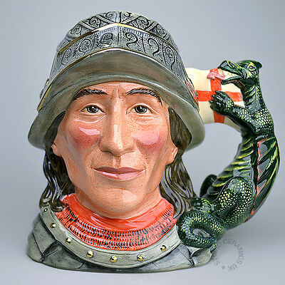 Royal Doulton St George D7129 Large Character Jug